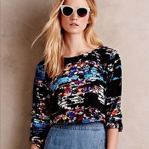 "NWOT ANTHROPOLOGIE Yumi Kim ""Zama"" floral silk top"